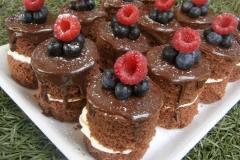 Fresh Cream Chocolate Cake with Ganache & Berries